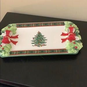 Spode tartan tray great for appetizers